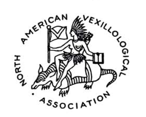 NAVA seal as drawn by Whitney Smith of the Native American maiden riding an armadillo