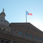 4. Flag and Arms over Texas State Capitol